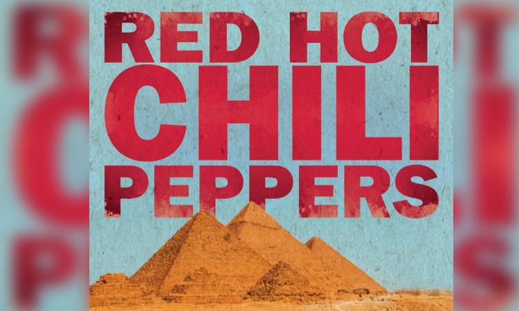 Red Hot Chili Peppers publicó el cartel y un video para anunciar su show en Egipto. Foto: redhotchilipeppers.com