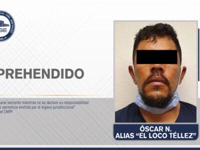 En Puebla detienen al Loco Téllez por diversos delitos