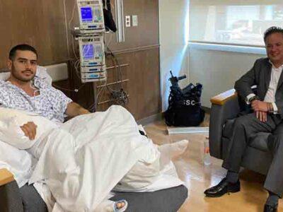 García Harfuch recibe visita de Santiago Nieto tras atentado