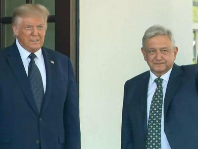 AMLO en Estados Unidos: Donald Trump recibe a López Obrador en Washington.