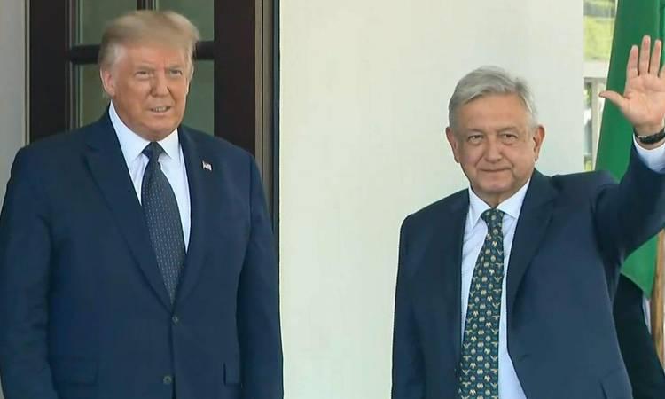 AMLO en Estados Unidos: Donald Trump recibe a López Obrador en Washington.