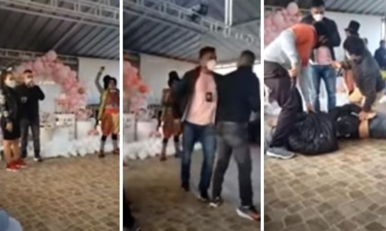 VIDEO: En pleno baby shower detienen a presunto sicario; pensaba que era show