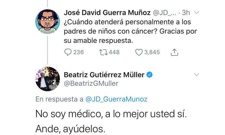 Beatriz Gutiérrez niños con cáncer