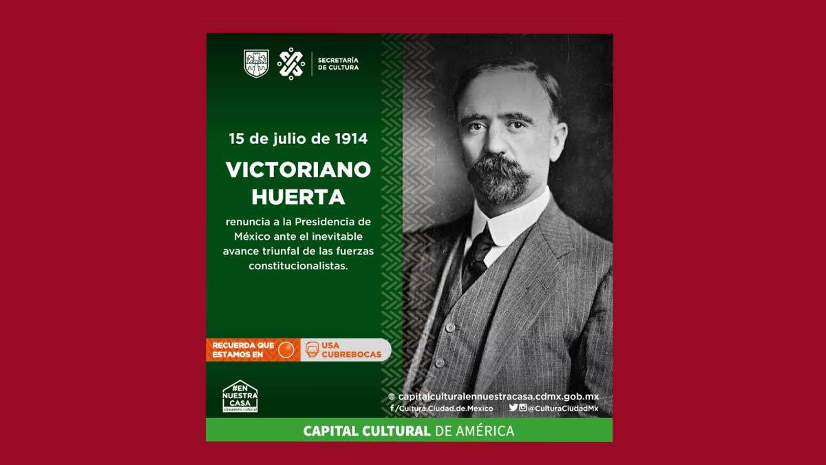 Secretaría de Cultura de CDMX confunde a Victoriano Huerta con Madero