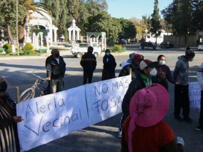 PROTESTAS EN BOLIVIA POR FOSAS DE FALECIDOS DE COVID