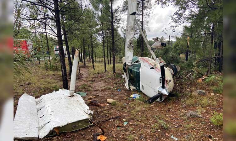 En Chihuahua, avioneta se desploma en municipio de Bocoyna