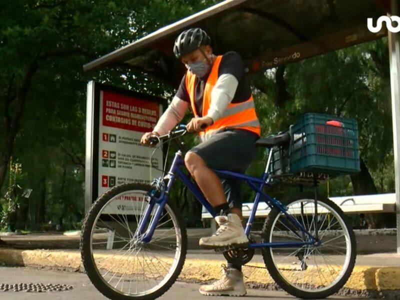 """Le dicen el """"Ciclista verdulero"""", pero quiere competir a nivel internacional"""
