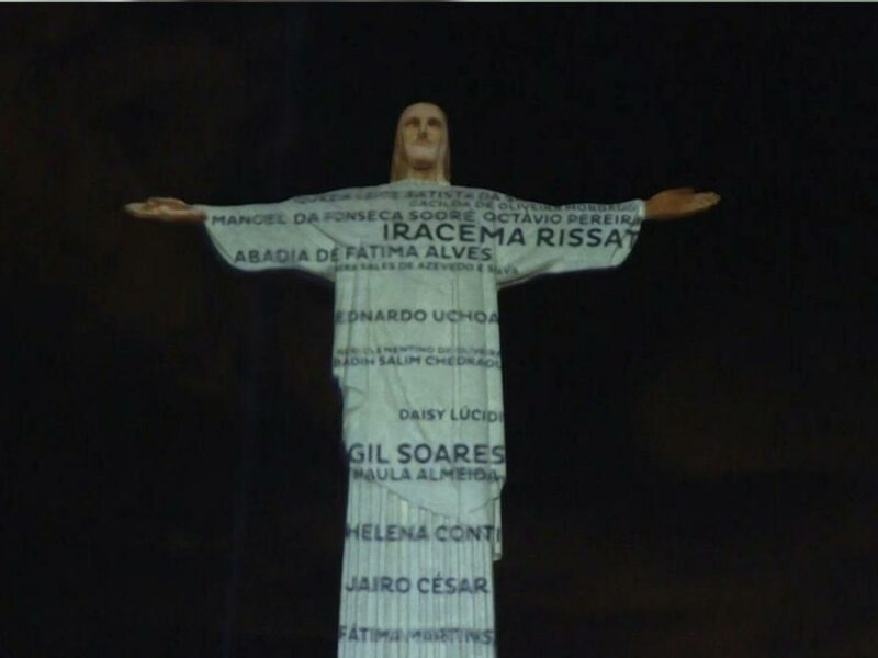 The Christ the Redeemer statue in Brazil pays homage to the victims of the coronavirus