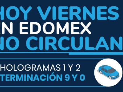 Hoy No Circula Edomex viernes