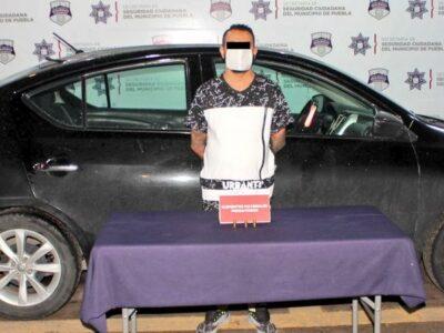 En Puebla detienen a ladrón de negocios