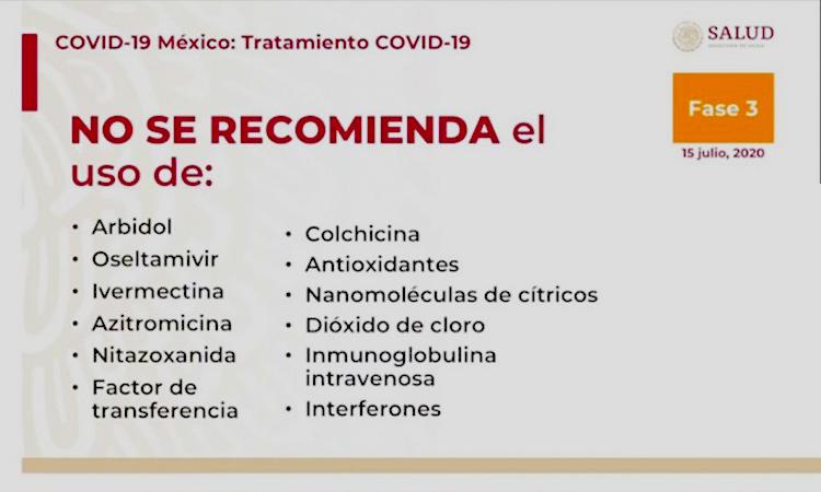 Medicamento no recomendado