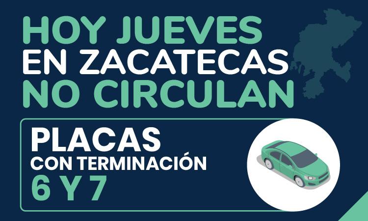 Hoy No Circula en Zacatecas 2020: Ve qué autos descansan este jueves