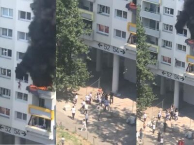 Dos niños en Grenoble, Francia, saltan de edifico para evadir incendio