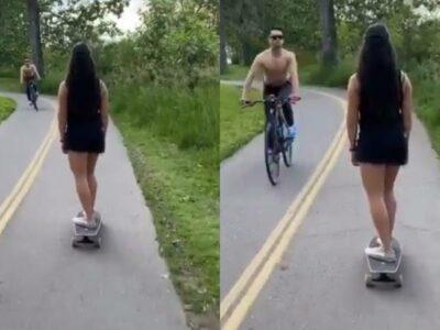 Racismo en Canadá: ciclista escupe al rostro de mujer asiática