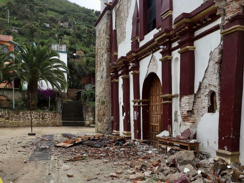 Pinturas rupestres quedan al descubierto tras sismo en Mixtequilla