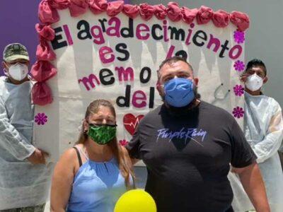 Nuevo León: hospital COVID en Juárez da de alta a primeros pacientes recuperados