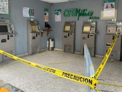 En Puebla, roban más de un millón de pesos en cajeros de la CFE