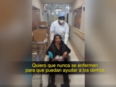 Nunca se enfermen: el deseo de paciente recuperada de COVID-19 a médicos