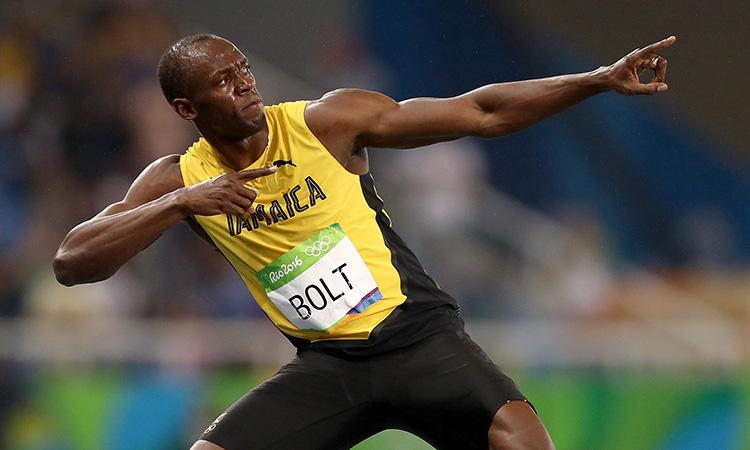Usain Bolt presentó a su hija