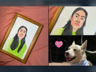CDMX: Joven vende retratos para pagar tratamiento médico de su perra