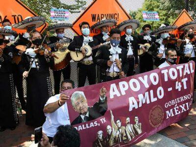 En cada punto, AMLO ha tenido muestras de apoyo y de rechazo durante su visita a EU. AFP