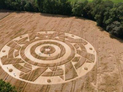 círculo en cultivos de alemania