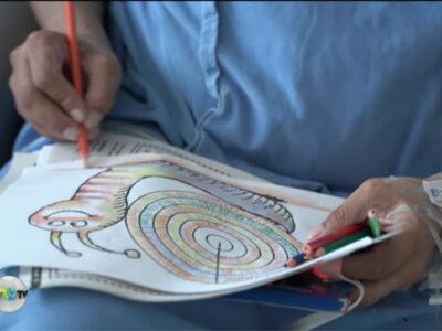 Pacientes con coronavirus dibujan antes de ser dados de alta