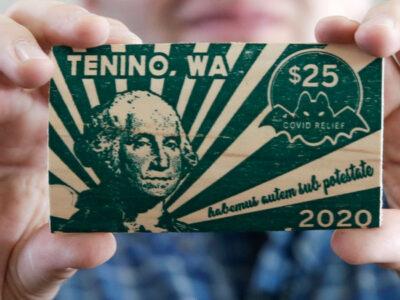 Dólar COVID: crean en Estados Unidos billete de madera