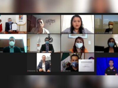 Sinhue firma convenio en defensa de periodistas y Derechos Humanos