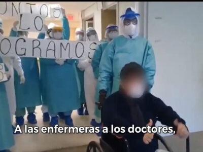 En Puebla despiden a paciente que derrotó al COVID-19