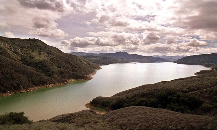 El lago Piru donde desapareció la actriz Naya Rivera