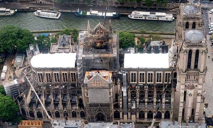 Por ahora, las obras de Notre-Dame fueron suspendidas por el coronavirus.