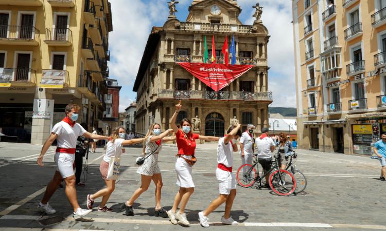 San Fermín 2020: sin toros y sin encierros, así se ve Pamplona
