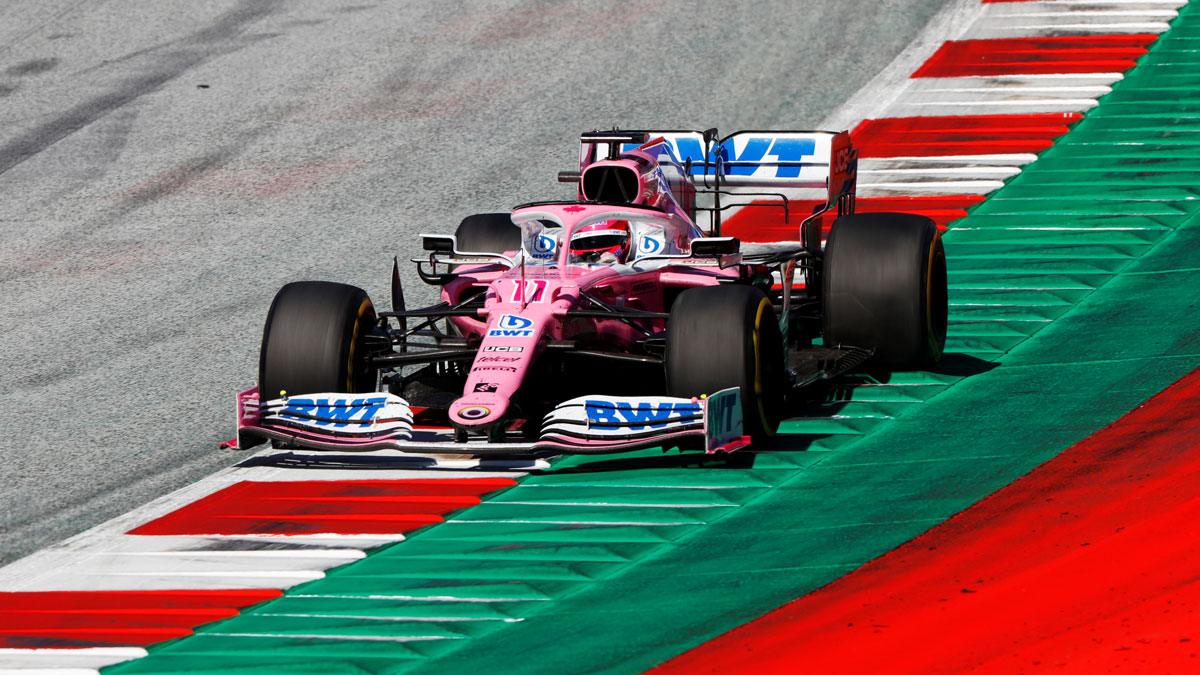 Checo Pérez en el GP de Austria. Reuters
