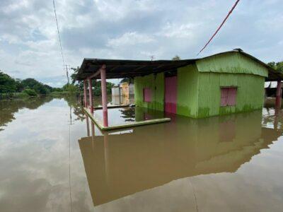 Lluvias en Veracruz dejan 167 casas bajo el agua en Jesús Carranza