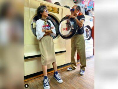 Abuelos son sensación en internet por modelar ropa olvidada