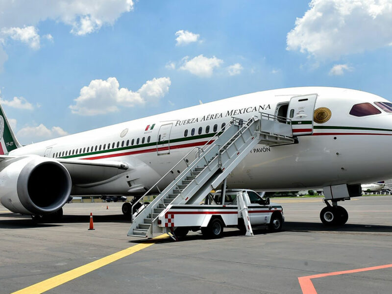 Avión presidencial sobrevuela México por primera vez desde su regreso de EU