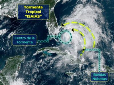 Isaías se degrada; pasa de huracán a tormenta tropical