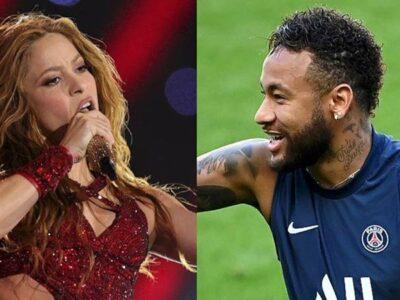 Neymar imita a Shakira