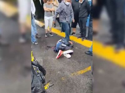 En el Estado de México, graban golpiza a presunto ladrón
