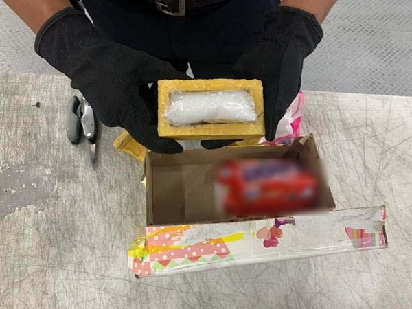Guardia Nacional detecta droga en jabones