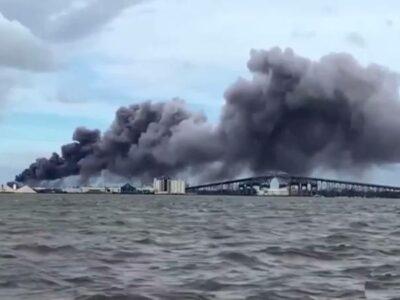 Laura Luisiana incendio planta química