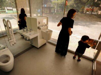 baños transparentes Japón