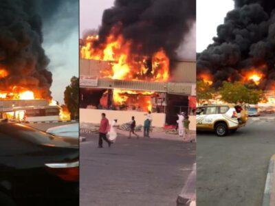 Mercado de Ajmán, en Emiratos Árabes Unidos, se incendia