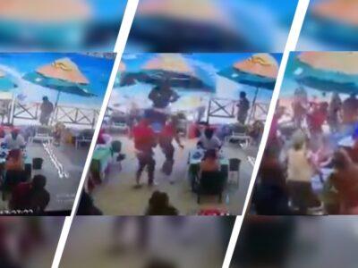 Moto acuática arrolla a vendedora en playa de Los Cabos