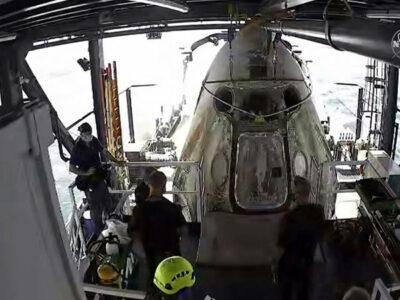 Cápsula de SpaceX vuelve a la tierra con éxito