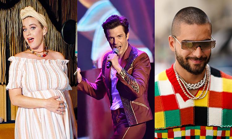 The Killers, Katy Perry, Maluma