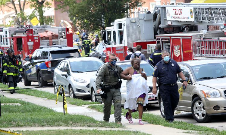 Explosión de gas en Baltimore: vecinos relatan lo sucedido