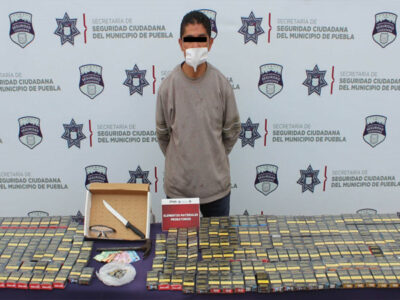 """En Puebla detienen al """"Tuerto"""" tras robar más de 20 tiendas y farmacias"""