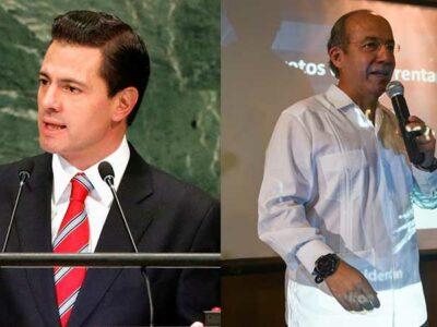 Enrique Peña Nieto y Felipe Calderón Hinojosa, expresidentes de México.